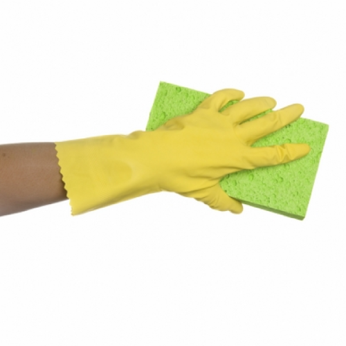 bastion yellow flocklined gloves