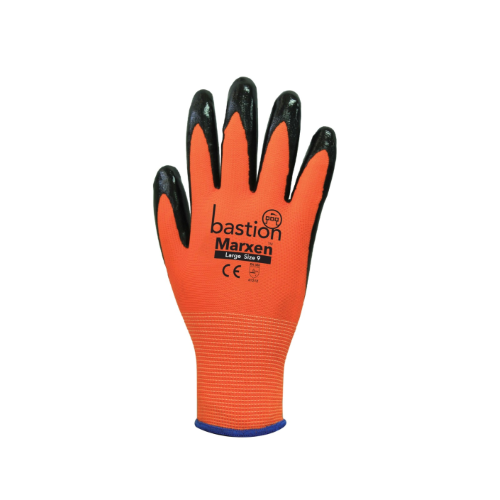bastion marxen high viz orange gloves