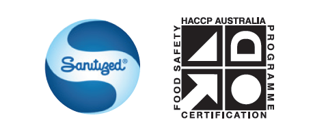 Sanitized & HACCP symbols