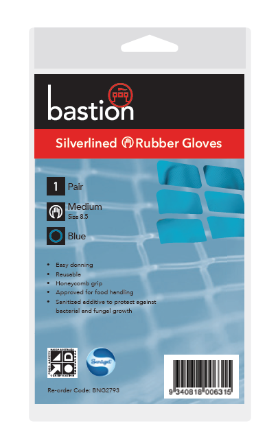 bastion blue silverlined gloves packaging