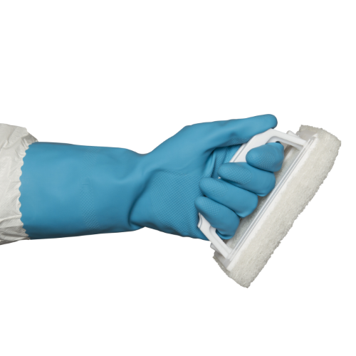 bastion blue silverlined gloves