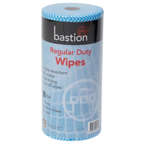 bastion blue regular duty wipes