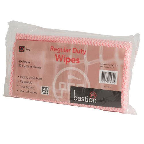 bastion regular duty wipes packs red
