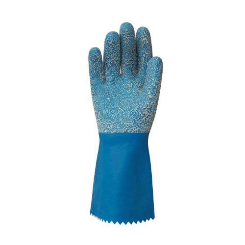bastion blue cottonlined gloves