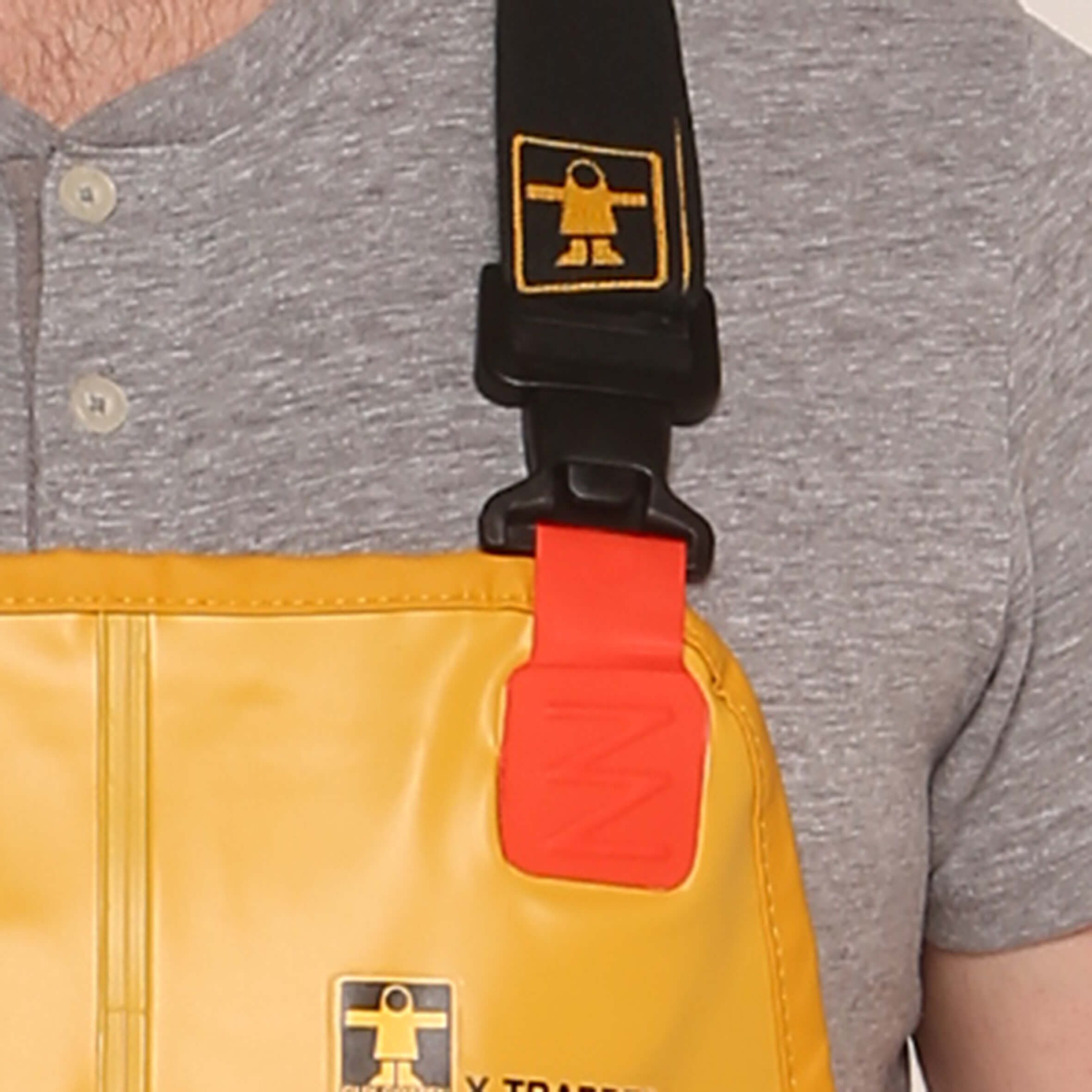 guy cotten xtrapper bib & braces clip front
