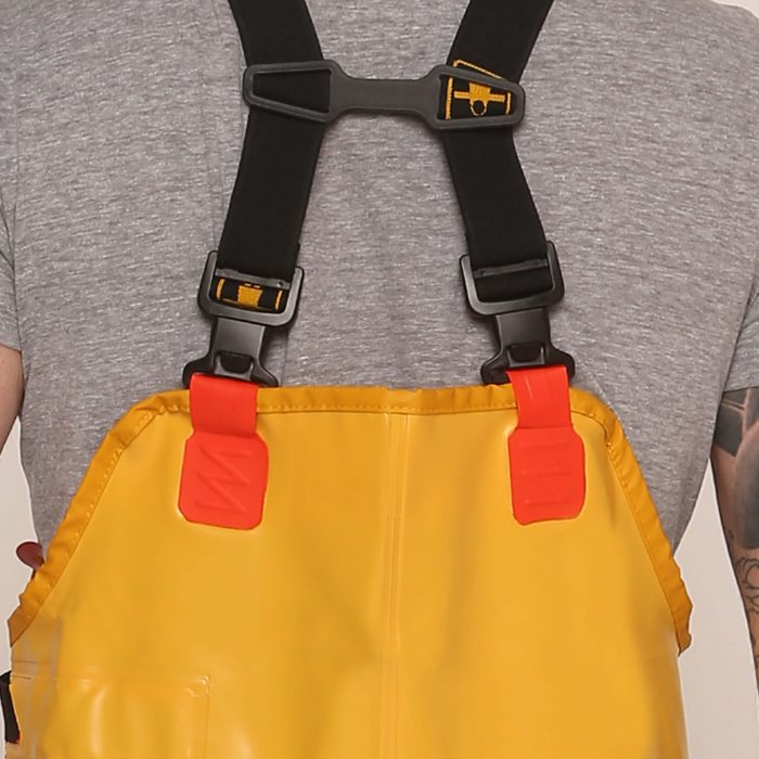 guy cotten xtrapper bib & braces clips back