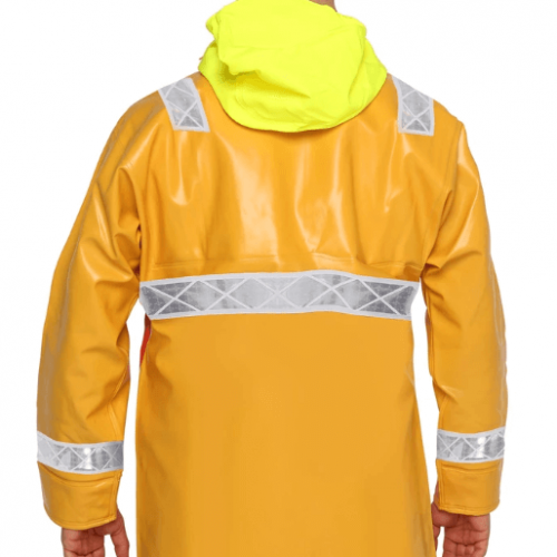 Guy Cotten Hydroblast Hi Vis Jacket Back