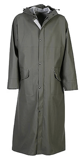 Isofarmer Long rain coat - front view
