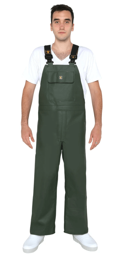 CBD Heavy Duty Bib & Braces - Green Front