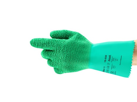 Ansell Green Gladiator Gloves - 1