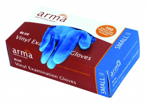 Arma Blue Vinyl Gloves