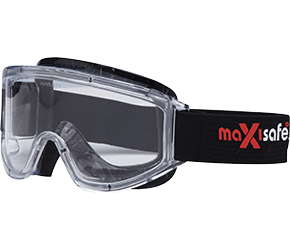 Maxisafe Foam Bound goggles Clear