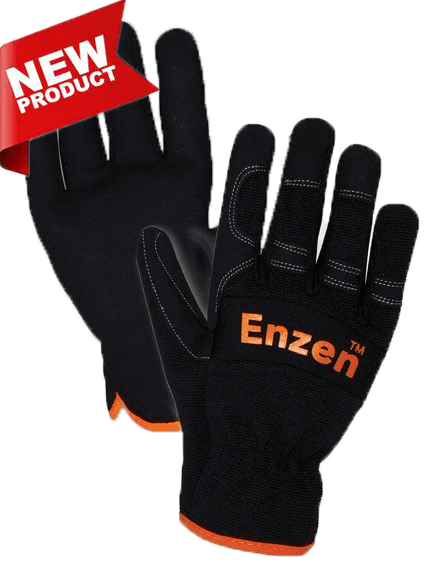 Enzen Synthetic Leather Riggers Gloves - New Product