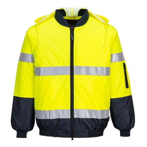 Prime Mover Yellow Hi-Vis Bomber Jacket